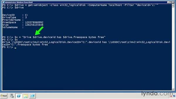 Use $() with expressions: PowerShell DrillBits