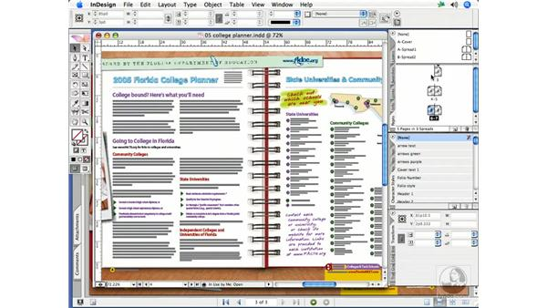 Master page edits: InDesign CS2 Print Project Workflow