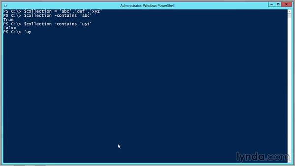 Use the -In operator: PowerShell DrillBits