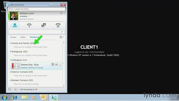 Manage contacts and groups: Lync 2010: Deploying, Configuring, and Administering