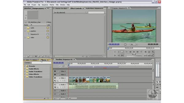 Choosing a task-based workspace: Premiere Pro 2 New Features