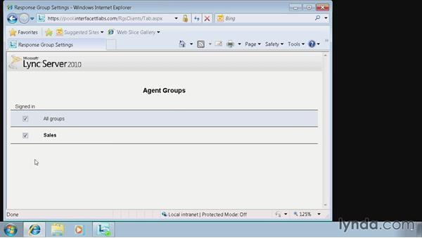 Validate the Response Group Service: Lync 2010: Deploying, Configuring, and Administering