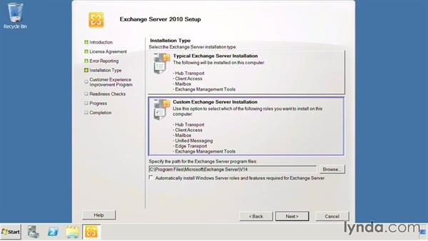Use the graphical setup.exe: Exchange Server 2010: Designing and Implementing