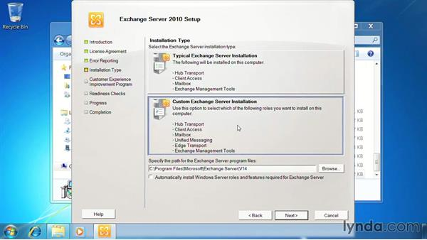 Install Exchange management tools: Exchange Server 2010: Designing and Implementing