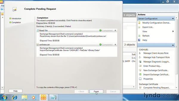 Configuring certificates for CAS: Exchange Server 2010: Designing and Implementing