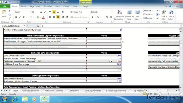 Determine mailbox role storage requirements: Exchange Server 2010: Designing and Implementing