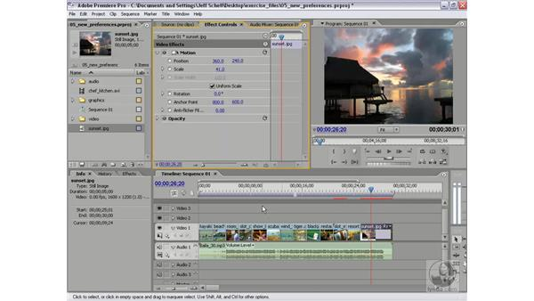 Scaling clips to the project frame size: Premiere Pro 2 New Features