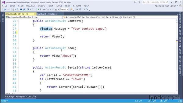 Applying action selectors: ASP.NET MVC 5 Essential Training