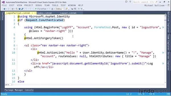 Employing HTML helpers: ASP.NET MVC 5 Essential Training