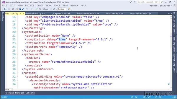 Bundling and minification: ASP.NET MVC 5 Essential Training