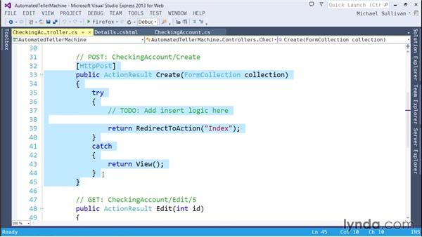 Displaying and validating model properties: ASP.NET MVC 5 Essential Training