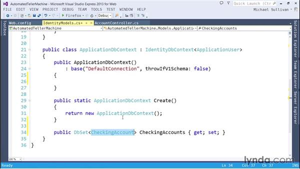 Generating database objects with the Entity Framework: ASP.NET MVC 5 Essential Training