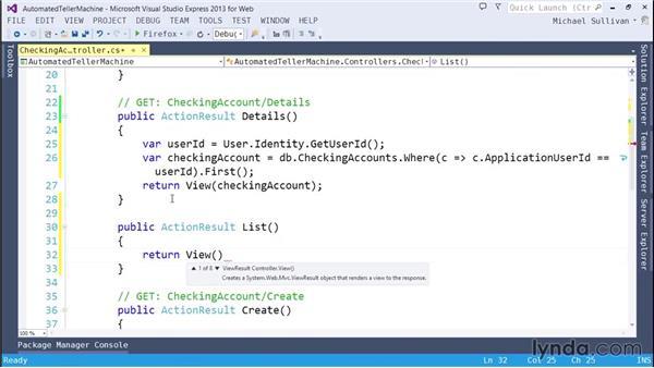 Using role-based authorization: ASP.NET MVC 5 Essential Training
