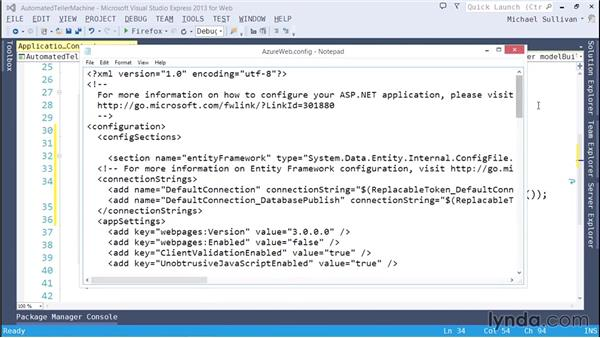 Deploying to AppHarbor: ASP.NET MVC 5 Essential Training