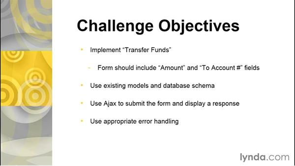 Challenge: Implementing transfers: ASP.NET MVC 5 Essential Training