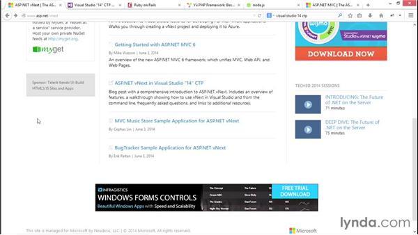 Next steps: ASP.NET MVC 5 Essential Training