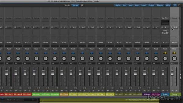 Using sends and returns: Mixing and Mastering with Logic Pro X