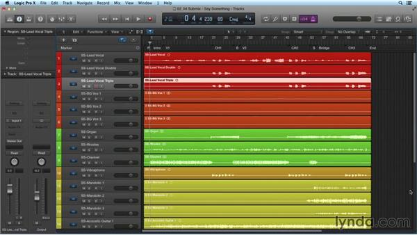 Setting up a submix: Mixing and Mastering with Logic Pro X