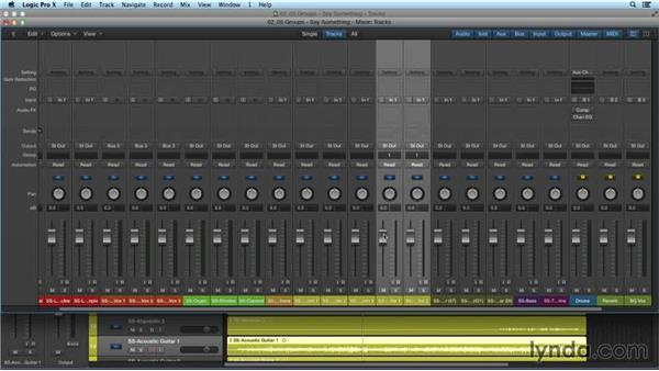 Using groups: Mixing and Mastering with Logic Pro X