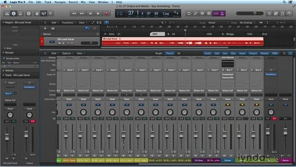 Using the output and the master channel: Mixing and Mastering with Logic Pro X