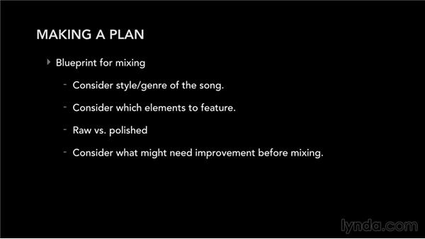 Choosing a mix approach: Mixing and Mastering with Logic Pro X