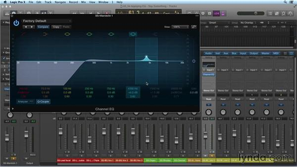 Applying EQ: Mixing and Mastering with Logic Pro X