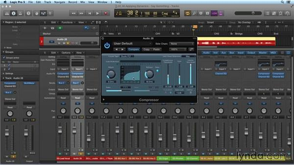 Applying dynamics and compression: Mixing and Mastering with Logic Pro X