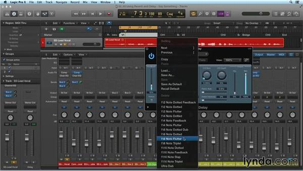 Using reverb and delay: Mixing and Mastering with Logic Pro X