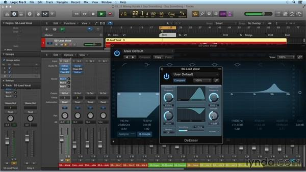 Mixing vocals: Mixing and Mastering with Logic Pro X
