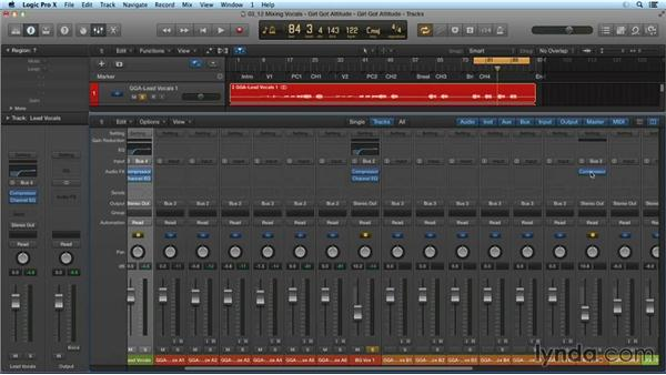 Mixing a pop vocal track: Mixing and Mastering with Logic Pro X
