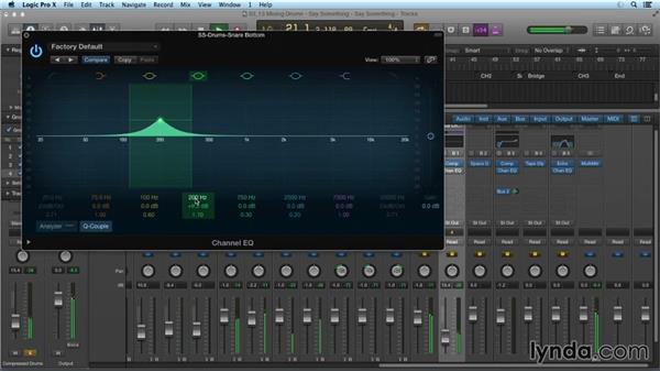 Mixing acoustic drums: Mixing and Mastering with Logic Pro X