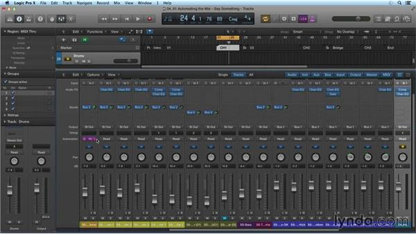 Automating the mix: Mixing and Mastering with Logic Pro X