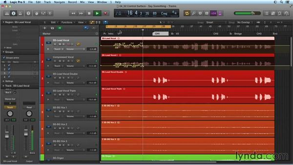 Using a control surface: Mixing and Mastering with Logic Pro X