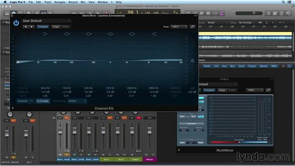 Using equalization (EQ) to make multiple songs sound cohesive: Mixing and Mastering with Logic Pro X