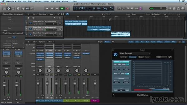 Auditioning track order: Mixing and Mastering with Logic Pro X