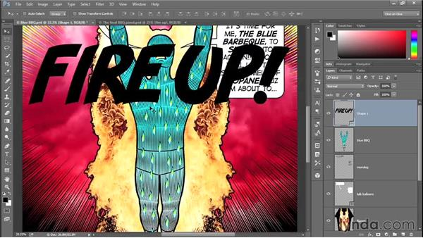 348 Enhancing your hand-drawn text in Photoshop: Deke's Techniques