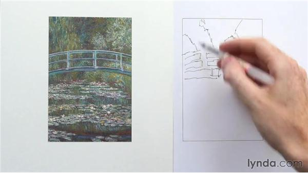 Monet: Light and dark patterns: Foundations of Drawing: Light and Shadow