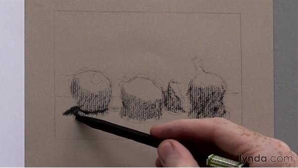 The three tone masses: Foundations of Drawing: Light and Shadow