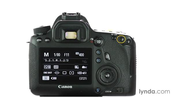 A guided tour: Buttons and controls: Up and Running with the Canon 6D