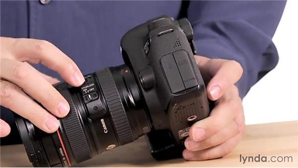 Lens controls: Up and Running with the Canon 6D