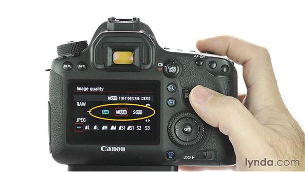 Changing image format and size: Up and Running with the Canon 6D