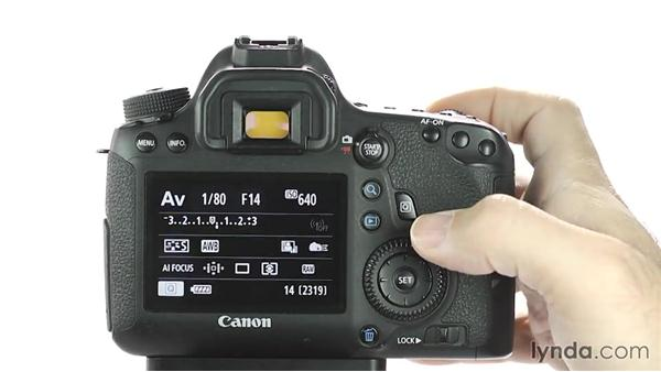 Adjusting exposure compensation: Up and Running with the Canon 6D