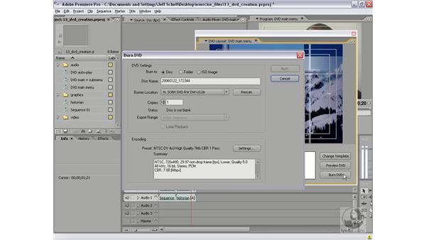 Exporting to a DVD folder or DVD image: Premiere Pro 2 New Features
