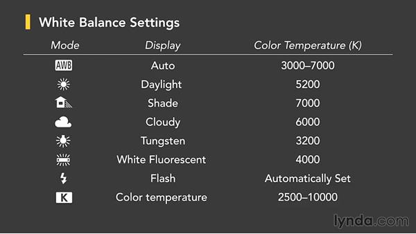 White balance: Up and Running with the Canon 6D
