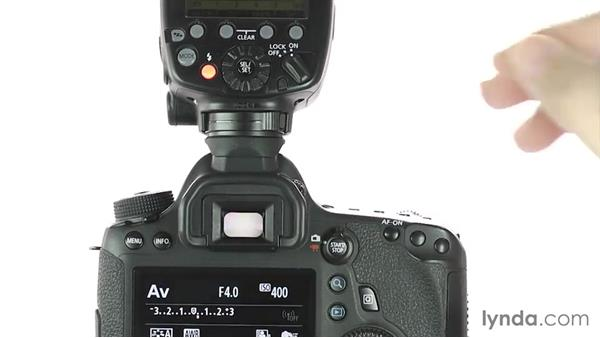 Connecting to a hot-shoe flash: Up and Running with the Canon 6D
