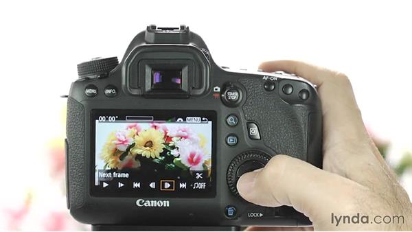 Playing back video: Up and Running with the Canon 6D