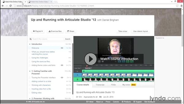 What you should know before watching this course: Articulate Studio Advanced Techniques