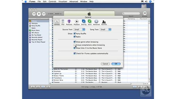 General preferences: iTunes 5 and 6 + iPod Essential Training