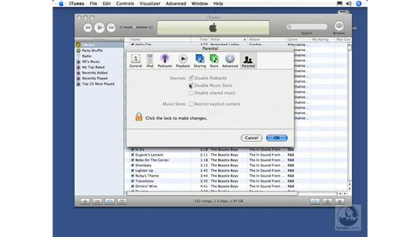 Parental controls: iTunes 5 and 6 + iPod Essential Training