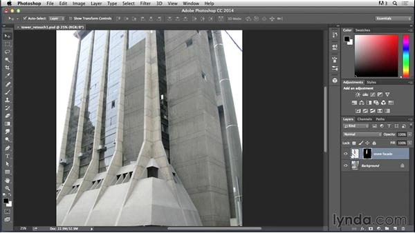 Changing the texture on the tower facade: Bert Monroy: Dreamscapes - Sci-Fi Tower